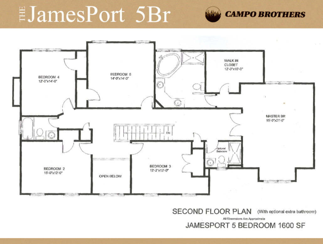 Floor plans campo brothers for 5br house plans