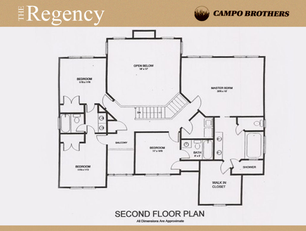 Floor plans campo brothers long island for Regency house plans